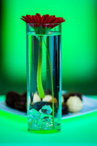 detal, szklanka z wodą, fotograf eventowy